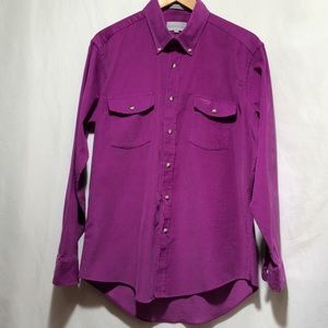 Vintage* BULLOCK's sz L purple corduroy shirt(582)